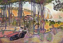 Henri Edmond Cross: L'air du soir. 1893-1894. Huile sur toile. Paris, Musée d'Orsay