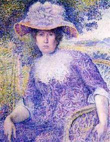 Henri Edmond Cross: Portrait de madame Cross. 1901. Huile sur toile. Paris, Musée d'Orsay