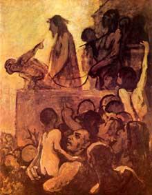 Honoré Daumier: Ecce homo. 1850. Huile sur toile, 163 x 130. Essen, Folkwang Museum