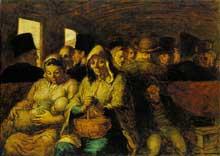 Honoré Daumier: Le Wagon de troisième classe (1863-1865). Huile sur toile, 65,4 x 90,2 cm. New York, The Metropolitan Museum of Art