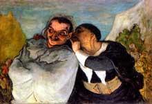 Honoré Daumier: Crispin et Scapin. Paris, Musée du Louvre