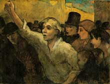 Honoré Daumier : l'insurrection. 1860. Huile sur toile, 87.6 x 113 cm. Washington, The Phillips Collection