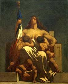 Honoré Daumier: La République. 1848. Huile sur toile, 73 x 60 cm. Paris, musée d'Orsay