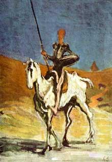 Honoré Daumier: Don Quichotte. 1868. Huile sur toile, 51 x 32 cm. Munich, Neue Pinakothek