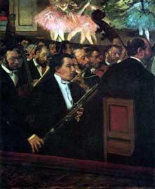 Edgar Degas: L'orchestre de l'Opéra. vers 1868-1869. Paris, Musée d'Orsay