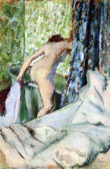 Edgar Degas : Bain du matin. 1883. Pastel sur papier. Chicago, Art Institute