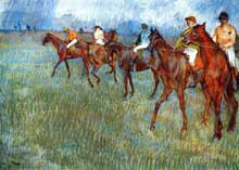 Edgar Degas : Cavaliers sous la pluie. 1886. Glasgow Museums and Art Gallery, Ecosse