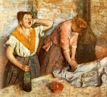 Edgar Degas: Les repasseuses 1884. Huile sur toile, 76 x 81 cm. Paris, Musée d'Orsay