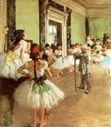 Edgar Degas: la classe de danse. 1873. Huile sur toile. Paris, musée du Louvre