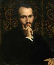 Jules Elie Delaunay: portrait de Charles Hayem (vers 1838-1902), collectionneur et donateur des musées nationaux.1865.  Huile sur toile, 46 x 56 cm. Paris musée d'Orsay