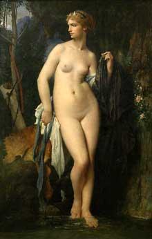 Jules Elie Delaunay: Diane. 1872. Huile sur toile, 94 x 147 cm. Paris musée d'Orsay