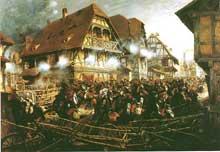 Edouard Detaille: la charge de des cuirassiers à Mosbronn, début août 1870
