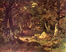 Narcisse Diaz de la Peña: dans les bois. 1855 Huile sur panneau de bois, 50 x 61 cm. Paris, musée du Louvre