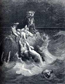 Gustave Doré: illustration pour la Bible: le déluge