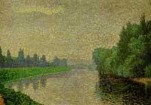 Albert Dubois-Pillet: La Marne à l'aube. 1888. Huile sur toile, 32 cm x 46 cm. Paris, musée d'Orsa