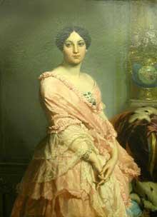 Edouard Dubufe: portrait de madame F. Vers 1850. Huile sur toile, 90 x 130 cm. Paris, Musée d'Orsay