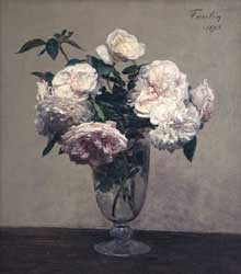 Henri Fantin-Latour : Vase des Roses, Collection of Julian and Josie Robertson, New York