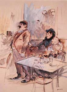 Jean Louis Forain: l'absinthe