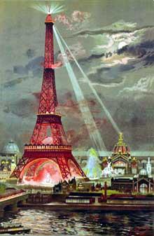 Georges Garen: embrasement de la Tour Eiffel lors de l'expo universelle de 1889