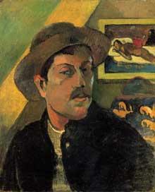 Paul Gauguin: Autoportrait, 1893. Huile sur toile, 45 x 38 cm. Paris, Musée d'Orsay