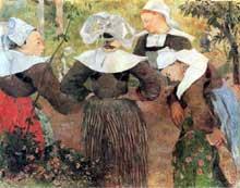 Paul Gauguin: La danse des quatre bretonnes. 1888. Huile sur toile, 71 x 91 cm. Munich, Neue Pinakothek