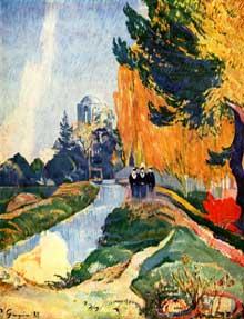 Paul Gauguin: Les Alyscamps. 1888. Huile sur toile, 92 x 73 cm. Paris, Musée d'Orsay