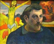 Paul Gauguin: Autoportrait au Christ jaune. 1889. Huile sur toile, 38 x 46 cm. Paris, Musée d'Orsay