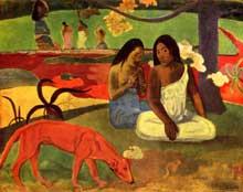 Paul Gauguin: Arearea – Joyeusetés. 1891. Huile sur toile, 75 x 94 cm. Paris, Musée d'Orsay