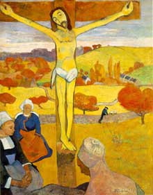 Paul Gauguin : Le Christ jaune. 1889. Huile sur toile, 92.1 x 73.4 cm. Buffalo, Albright-Knox Art Gallery