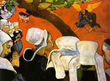 Paul Gauguin: la vision après le sermon ou la lutte de Jacob avec l'ange. 1888. Huile sur toile, 73 x 92 cm. Edimbourg, National Gallery of Scotlan