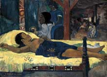 Paul Gauguin: Te tamari no atua. 1896. Huile sur toile, 94 x 124cm. Munich Stätliche Sammlung