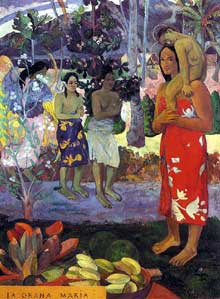 Paul Gauguin : La orana Maria. 1891. Huile sur toile, 113,7 x 87,7 cm. New York, Metropolitan Museum of Art
