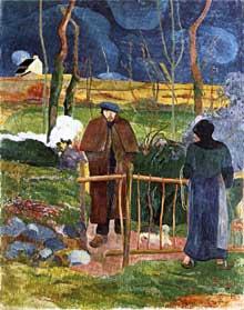 Paul Gauguin: Bonjour monsieur Gaugin. 1889. Huile sur toile,  92,5 × 74 cm. Prague, Musée d'Art Moderne.