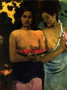Paul Gauguin: les seins aux fleurs rouges. 1899. Huile sur toile. New York, Metropolitain Museum