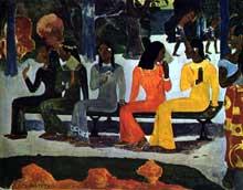 Paul Gauguin: Ta matete «Nous n'irons pas au marché aujourd'hui». 1892. Bâle, Kunstmuseum
