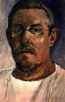 Paul Gauguin: autoportrait. 1903. Huile sur toile, 41,5 x 24 cm. Bâle, Kunstmuseum
