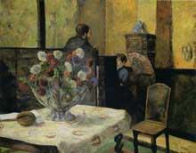 Paul Gaugin: Intérieur du peintre, rue Carcel. 1881. Huile sur toile, 130 cm x 162 cm. Oslo