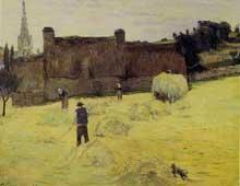Paul Gaugin: La Fenaison en Bretagne. 1888. Huile sur toile, 73 cm x 92 cm. Paris, musée d'Orsay