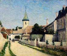 Léo Gausson: Route traversant le village de Thorigny, près de Lagny. 1888. Huile sur toile