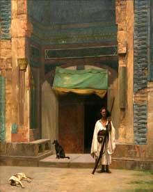 Léon Gérôme: portail de la mosquée verte. 1870. Musée d'art de Philadelphie