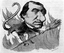 André Gill (1840-1885): Ernest Renan. Caricature de «La Lune», 5 novembre 1867