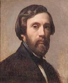 Marc Charles Gabriel Gleyre (1806-1874): autoportrait. Vers 1874