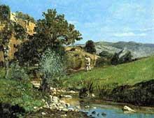 Paul Guigou: chasse au bord de l'Auiguebrun. 1866. Huile sur toile, 21 x 27 cm.