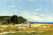 Paul Guigou: Chasseurs près de Marseille. 1869. Huile sur toile, 26 x 40 cm