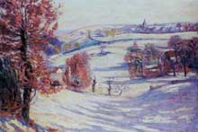 Armand Guillaumin: Neige à Crozant. 1898. Huile sur toile, 60 cm x 81 cm. Genève, musée du Petit Palais