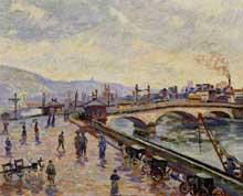 Armand Guillaumin: La Seine à Rouen. 1898. Huile sur toile, 60 cm x 73 cm. Douai, musée de la Chartreuse