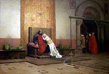 Jean Paul Laurens: L'Excommunication de Robert le Pieux. 1875. Paris, Musée d'Orsay