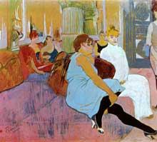 Henri de Toulouse-Lautrec: salon de thé dans la rue des Moulins. 1894. Pastel, 115 x 132 cm. Albi, Musée Toulouse-Lautrec