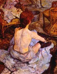 Henri de Toulouse-Lautrec: femme à sa toilette. 1896. Huile sur toile, 67x54 cm. Paris, Musée d'Orsay.
