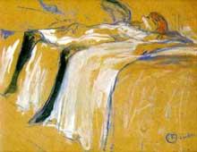 Henri de Toulouse-Lautrec: seule. 1896. Huile sur bois, 31 x 40 cm.Paris, Musée d'orsay